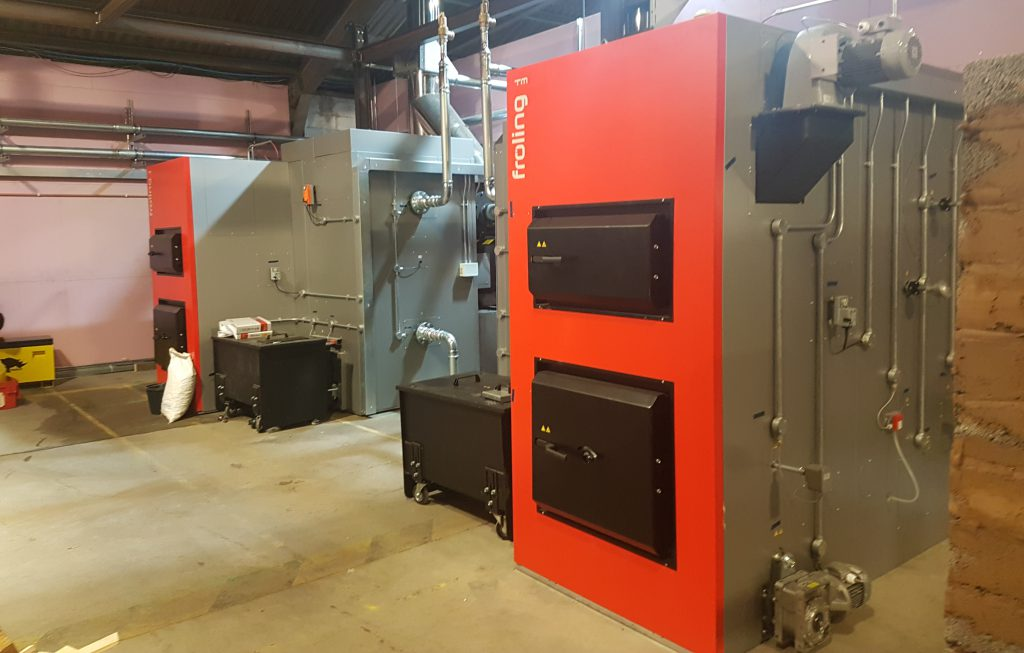 Froling Biomass boiler being used in conjuction with Building Management Systems.