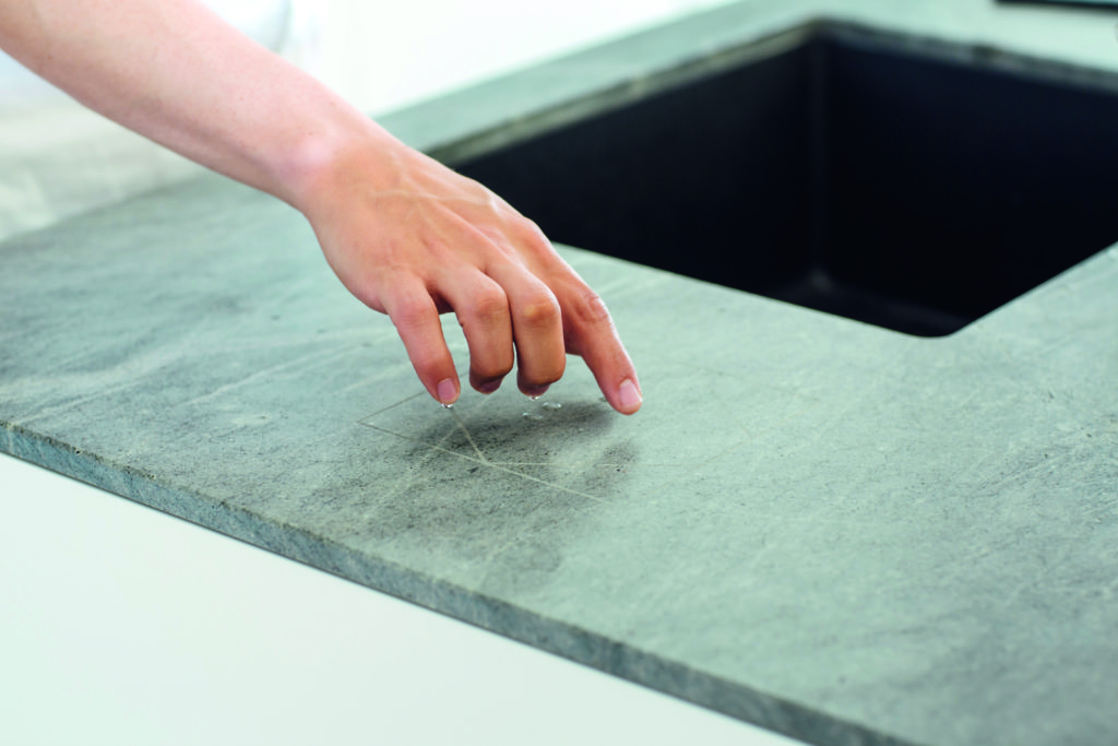 Loxone Surface Touch concealed in Marbel worktop